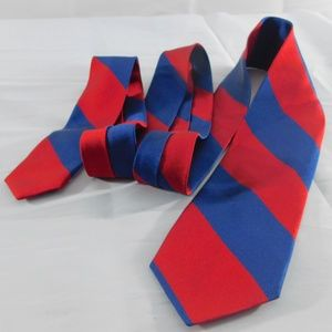 J Crew The Narrow Tie Red and Blue